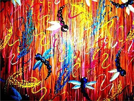 Dragon Fly Abstract by Cristy Crites
