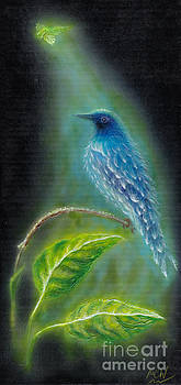 Dragonfly and Bird by Michelle Cavanaugh-Wilson