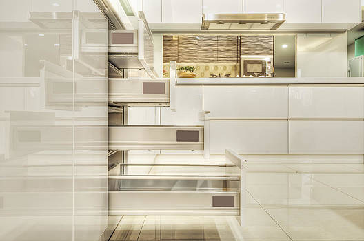 Drawers In A Modern Fitted Kitchen by Lawren Lu