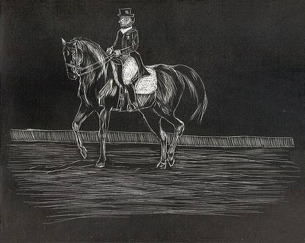 Dressage Horse and Rider by Lisa Guarino