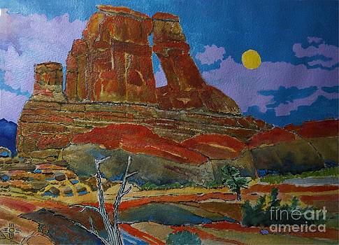 Druid Arch in Utah by Donald McGibbon