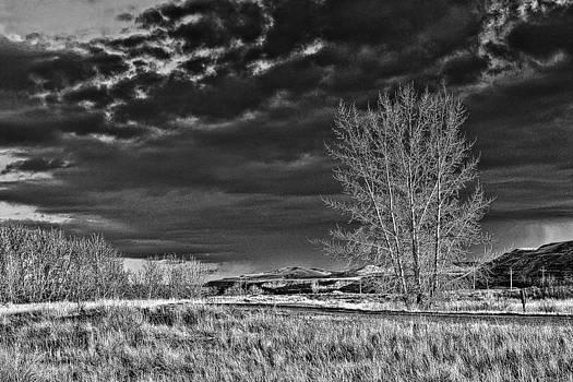 Drumheller Valley IN Black and white by Jim Justinick