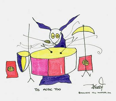 Drummer at work by Tis Art