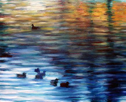 Ducks on the Pond by Hannah Curran