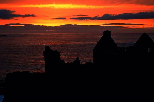 Dunluce Castle At Sunset by Peter McAuley