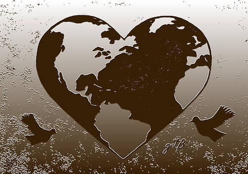 Earth Day Gaia Celebration digital art 2 by Georgeta  Blanaru