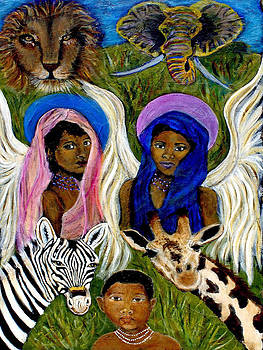 Earthangels Abeni and Adesina From Africa by The Art With A Heart By Charlotte Phillips
