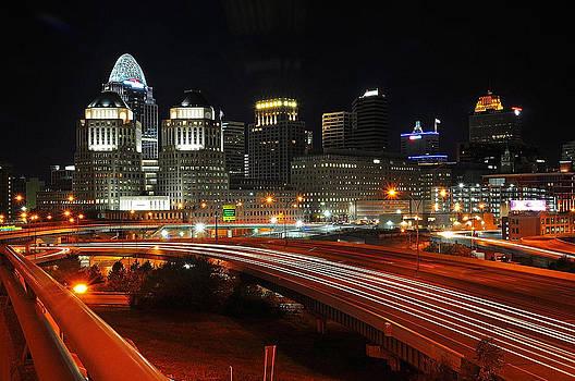 Eastern side of downtown Cincinnati by Michael Austin