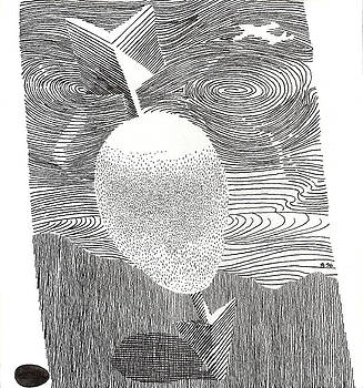 Egg Drawing 089613 by Phil Burns