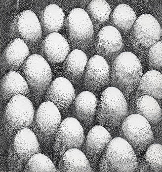 Egg Drawing 089917 by Phil Burns