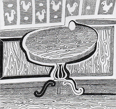 Egg on Table Sketch by Phil Burns