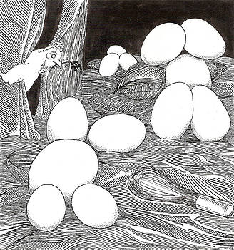 Eggs and Whisk by Phil Burns