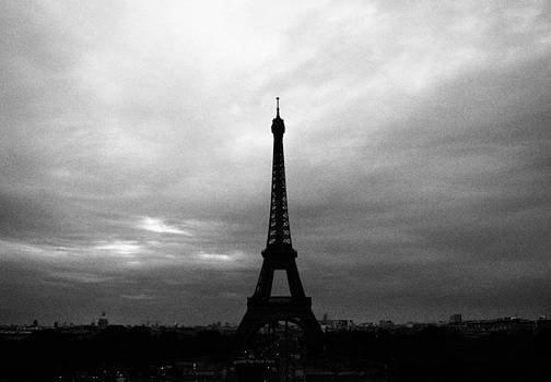 Eiffel Tower Black and White by Kelsey Horne
