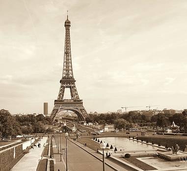Chuck Kuhn - Eiffel Tower Sepia