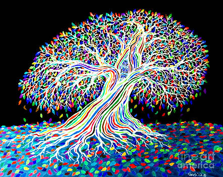 Nick Gustafson - Electric Rainbow Tree