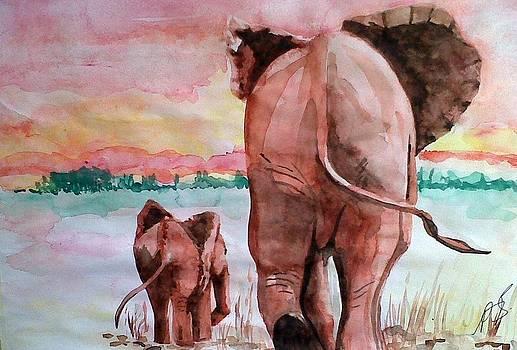 Elephant I. by Paula Steffensen