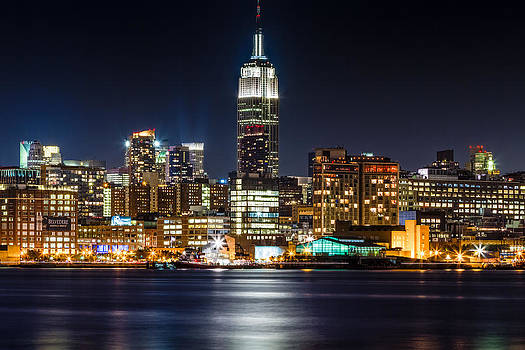 Empire State Building from Hoboken by Val Black Russian Tourchin