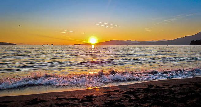 English Bay - Beach Sunset by Eva Kondzialkiewicz