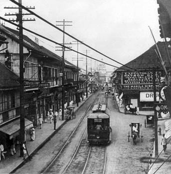Escalta Street - Manilla Philippines - c 1906 by International  Images