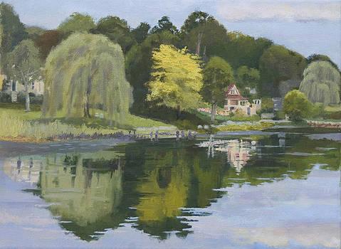 Essex River Reflections by Karen Lipeika