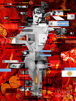 Eva Peron Nude En Rouge by Karine Percheron-Daniels