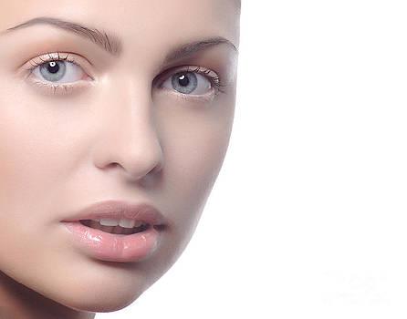 Face of a beautiful girl by Iryna Shpulak