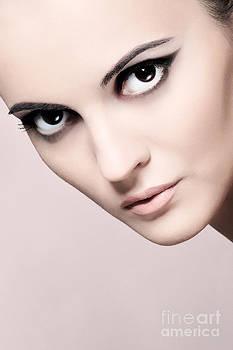 Face of a beautiful woman by Iryna Shpulak