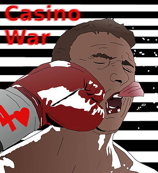 Face Punched Casino War Propaganda by Casino Artist