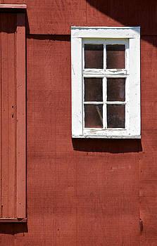 David Letts - Faded Red Wood Farm Barn