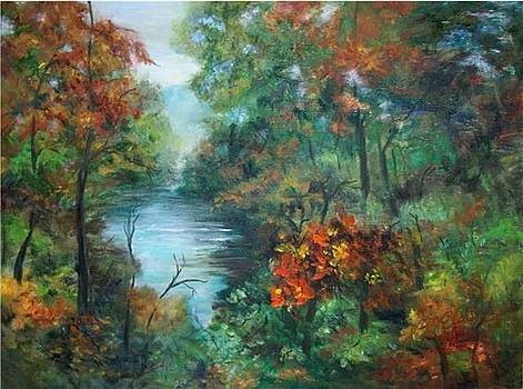 Fall Beginning in the Blueridge by Elaine Bailey