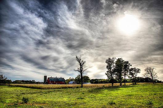 Fall Farm View by Dan Crosby