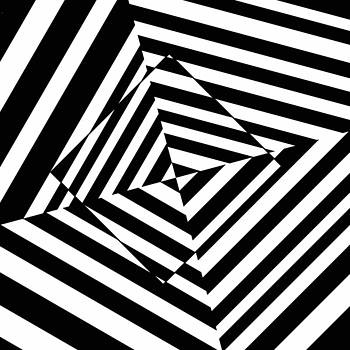 Falling Square optical illusion by Casino Artist
