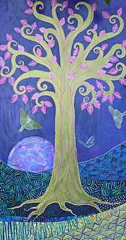 FantaSy TRee on FuLL BLue MooN by Teresa Grace Mock