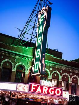 Paul Velgos - Fargo ND Theatre Marquee at Night Photo