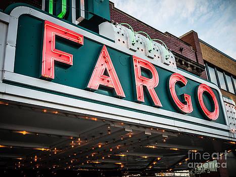 Paul Velgos - Fargo Theatre Sign in North Dakota