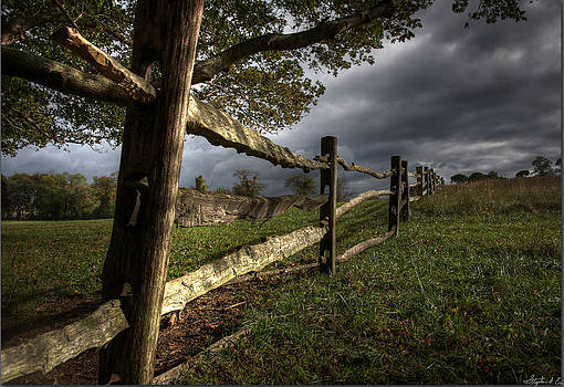Fence at Coggshall Farm by Stephen EIS