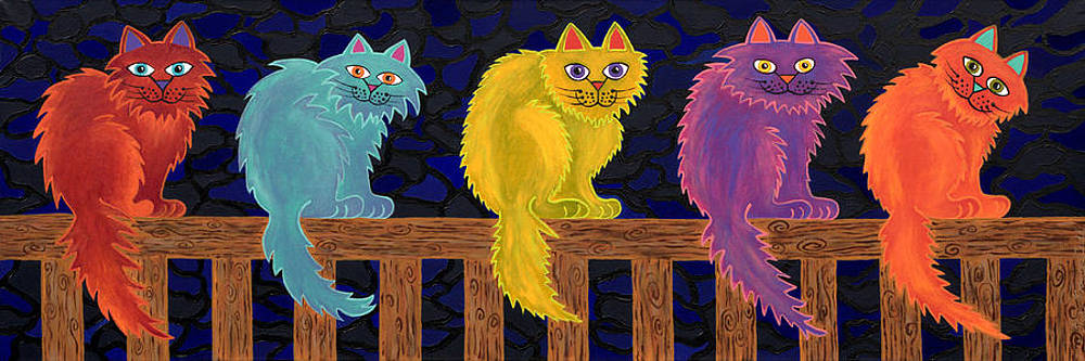 Fence Cats by Lisa Frances Judd