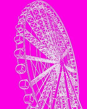 Ramona Johnston - Ferris Wheel Silhouette Pink White