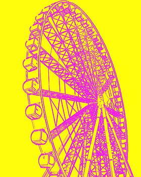 Ramona Johnston - Ferris Wheel Silhouette Yellow Pink