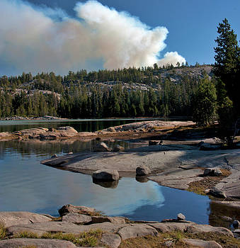 Fire at Strawberry Sierra Nevada Wildfire California Landscape Larry Darnell by Larry Darnell