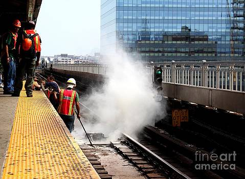 Fire on the tracks of 7 Train by Freda Sbordoni