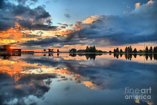 Adam Jewell - Fire Over Lake Tahoe