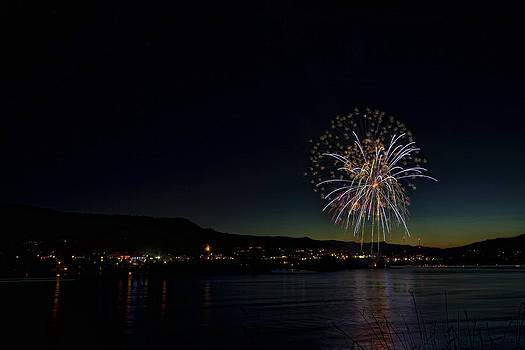Fireworks on the River by Brad Granger