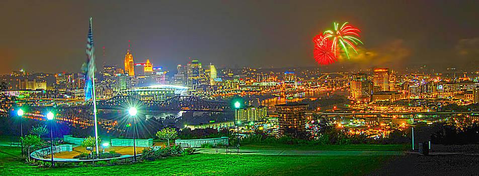 Randall Branham - Fireworks over the city skyline