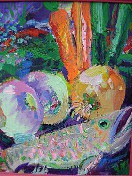 Fish Turnips Onion Carrots by Thomas OMara