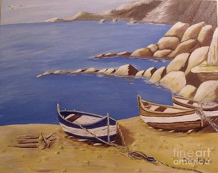 Fisherman's Boats by Debra Piro
