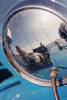 Fishing Boat Reflection by Carrie  Godwin