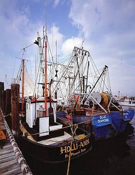 Fishing boats by David Campione