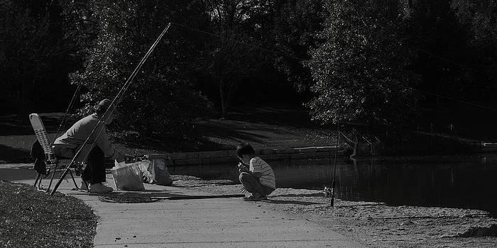 Fishing With Grandpa by Anna Villarreal Garbis