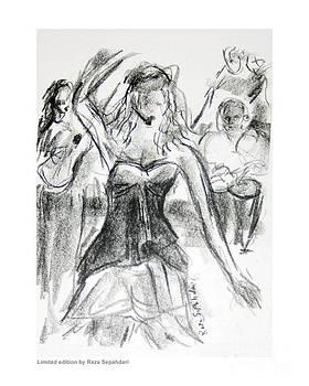 Flamenca in Black and white by Reza Sepahdari